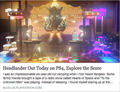 Headlander Out on PS4 - Explore the Score - Article Preview Screenshot - Press - David Earl Productions