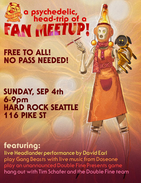 PAX West - Headlander Performance - Hard Rock Cafe Seattle - David Earl Productions